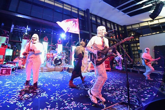 Here Come The Mummies perform onstage at the APA Party during IEBA 2017 Conference on October 15, 2017, in Nashville, Tennessee. They'll be coming to the Brown County Music Center.