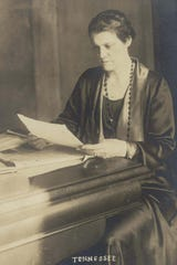 Anne Davis at the Tennessee Legislature, 1925. She and her husband, Willis P. Davis, were a key figures in the formation of the Great Smoky Mountains National Park.