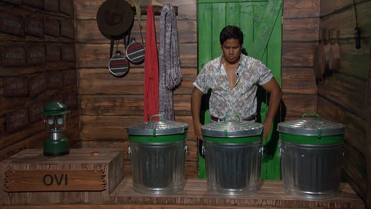 "Ovi Kabir plays the Whacktivity competition, ""This Stinks,"" on ""Big Brother."""