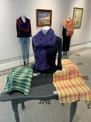 """Nature and Nurture — Both Sides Now"" includes wearable textile art by Peggy Favorite as well as pastel paintings by her twin sister, Patty Favorite Ritchie. The display is on-view at Artists' Own Gallery through July 11."