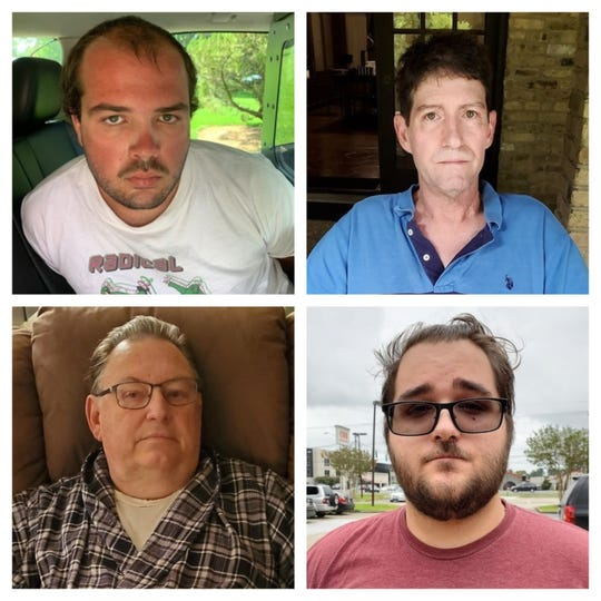 From top left to bottom right: Dylan Broussard, Scott Hemleben, Troy Raxdale and Edwin Smith