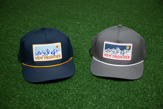 """New Frontier"" trucker caps (Courtesy of New Frontier Outfitters)"