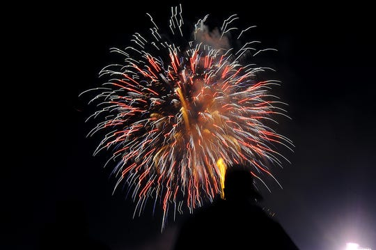 The City of Lansing's downtown fireworks show is scheduled to take place at 8 p.m. Thursday. Officials advise people to find spots in areas in or near Lou Adado Riverfront Park to watch the show. Individual fireworks won't be allowed in the park.