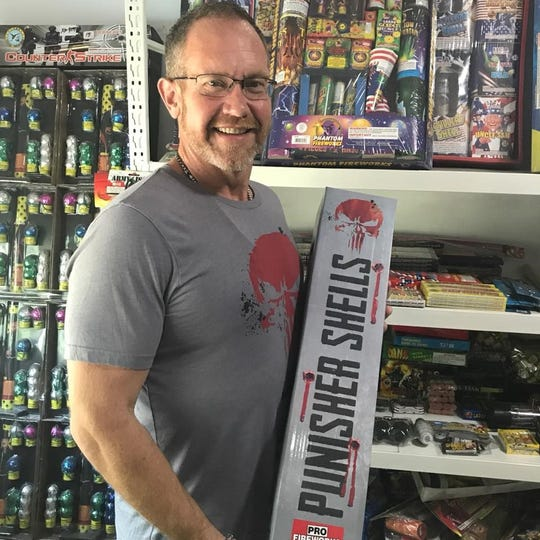 James Stajos, 48, is a Lansing native who is president of Pro Fireworks. The company has 13 stores in Michigan.