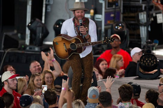 Drake White opens for Zac Brown Band at the American Family Insurance Amphitheater on Sunday.
