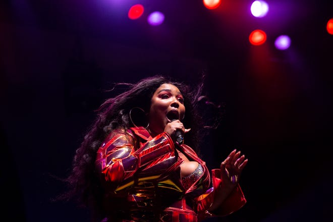 Lizzo performs at the Harley-Davidson Roadhouse on June 27, 2019. Hannah Schroeder/ Milwaukee Journal Sentinel