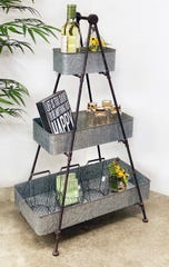 Three-tiered bar or plant stand.