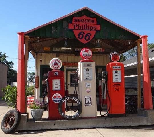 Restored Mahan's Filling Station was one of Route 66's earliest gas station in Springfield, Ill.
