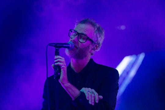 The National performs at the Miller Lite Oasis on Sunday.