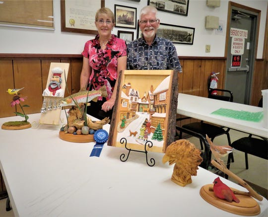 The North Arkansas Woodcarvers Club are featuring carvings by Betty and John Gregory. Their carvings are very realistic and have been admired and won awards. The North Arkansas Woodcarvers meet at the VFW Post 3246, just west of the Mountain Home Fire Department at 7th and Gray streets. Anyone Interested in woodcarving may contact club president Marty Wells at (870) 656-6963.
