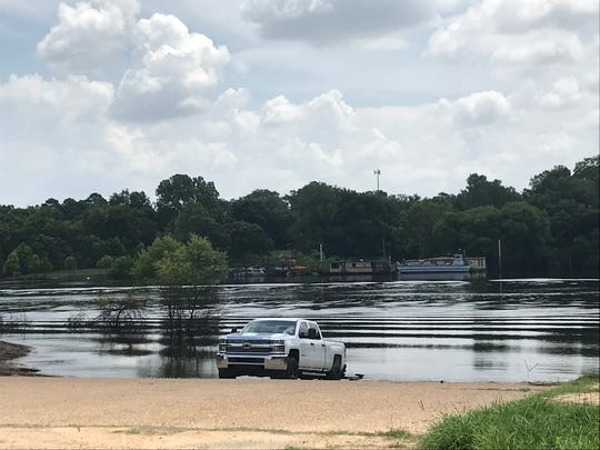 The Lazarre boat ramp provides an opportunity for launching a boat to view fireworks from the Ouachita River.