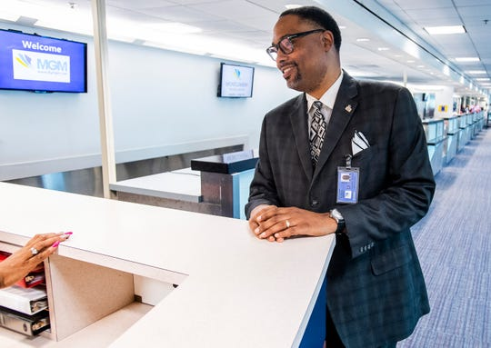 New Montgomery Airport Authority Executive Airport Director Marshall Taggart, Jr., is shown at the airport In Montgomery, Ala., on Monday July 1, 2019.