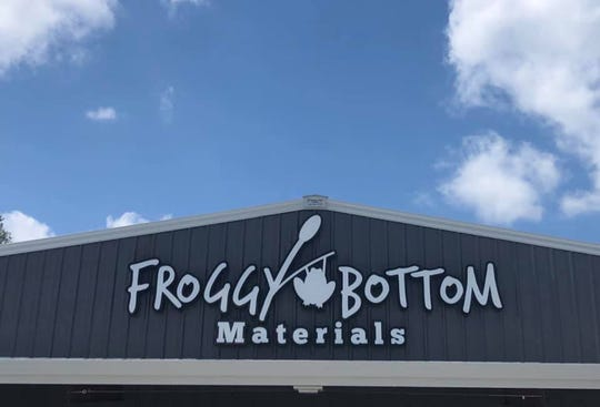 The larger site for Froggy Bottom Materials enabled owners Ben Lassiter and Zeb King to expand Froggy's appeal by adding plants, trees, pine straw, firewood and a store with items for the home.