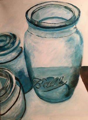 """Marta Stephens' painting """"Ball Jars"""""""