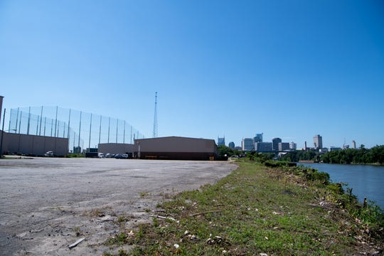 River North development site is the location for a 1.3 million square foot land acquisition on the east bank of the Cumberland, directly east of McFerrin Park, for large apartments, offices and shops, pictured Monday, July 1, 2019, in Nashville, Tenn.
