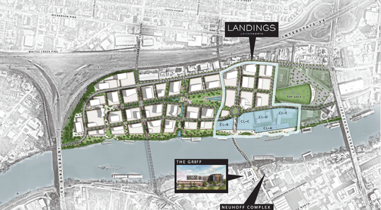 Site plan for The Landings at River North