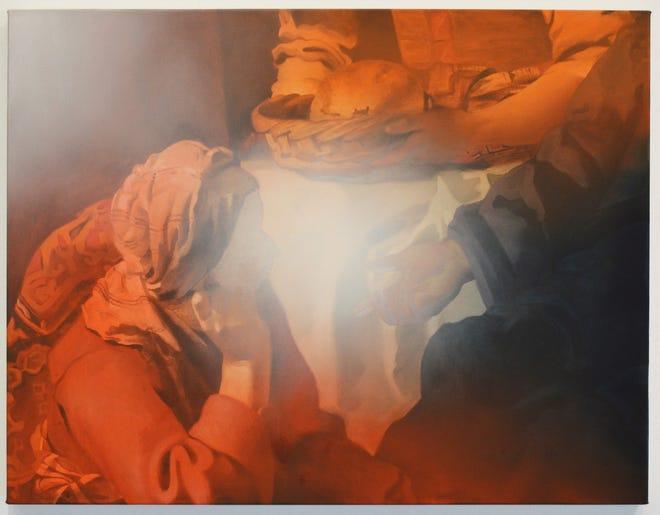 "Julian Rogers, ""Untitled,"" 2017, oil on canvas, 25""x32."""