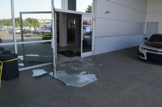 Seven cars were stolen from the Walker Chevrolet in Franklin on June 30. Employees found the glass door to the dealership shattered upon their arrival Monday morning. Five cars were also stolen in Fayetteville over the weekend.