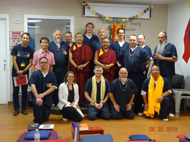 Buddist Monk Geshe Thubten Kinpa and Geshe Losang Jinpa visited Otero County Prison Facility Tuesday, June 25.