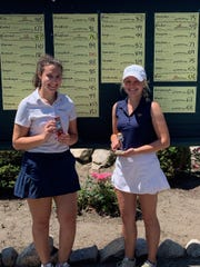Sydney Bradford (right) and Olivia Root took first and second place, respectivelty, at Kensington's Hartland Glen tourney.