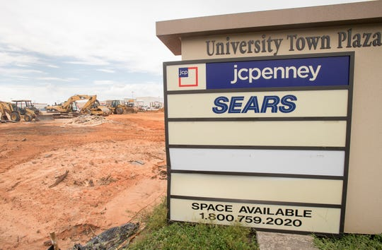 The Sears at University Town Plaza, along with the adjacent Sears Auto Center, are being demolished to make space for BJ's Wholesale Club, a membership-only warehouse club chain.