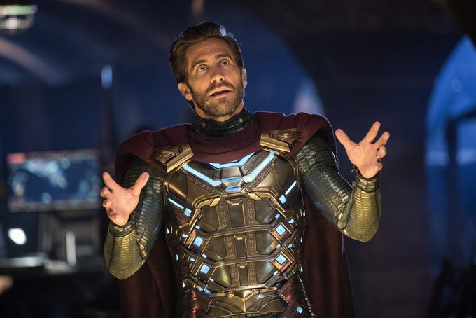 "Jake Gyllenhaal plays Mysterio in ""Spider-Man: Far From Home."""