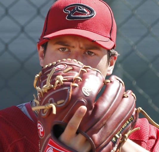 Arizona Diamondbacks' Tyler Skaggs throws at Salt River Fields at Talking Stick on the Salt River Pima-Maricopa Indian Community in Arizona on March 9, 2011. (Rob Schumacher/The Arizona Republic
