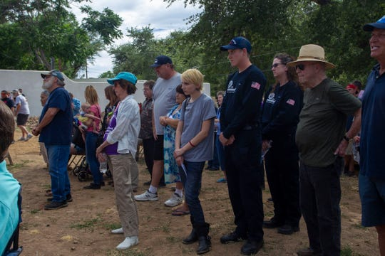Nearly 150 community members gathered at the future site of The Yarnell Hill Fire Memorial Park on June 30, 2019, to commemorate the 19 deaths of the Granite Mountain Hotshots.