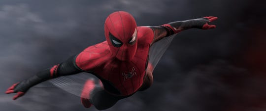 "Spider-Man is back in action in ""Spider-Man: Far From Home."""
