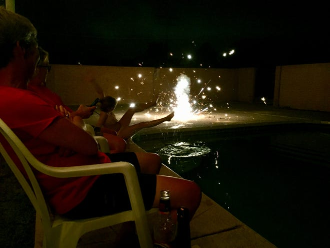 Some of my favorite Fourth of July celebrations have taken place in our backyard.