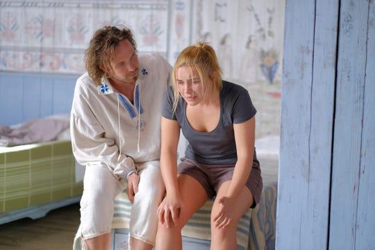 """Pelle (Vilhelm Blongren) checks on Dani (Florence Pugh) in """"Midsommar."""""""