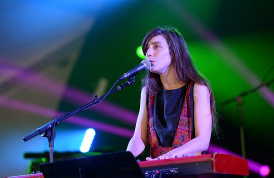 Julia Holter performs at FYF Fest at Los Angeles Sports Arena on August 28, 2016/