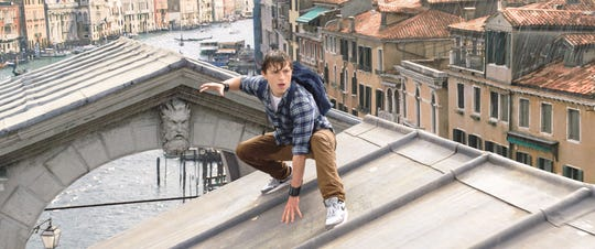 "Peter Parker (Tom Holland) returns in ""Spider-Man: Far From Home."""