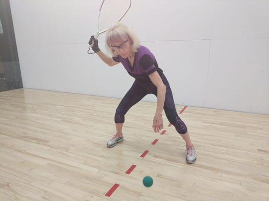 Susan Hendricks, 64, reached the finals of the national college racquetball championships and earn All-America status.