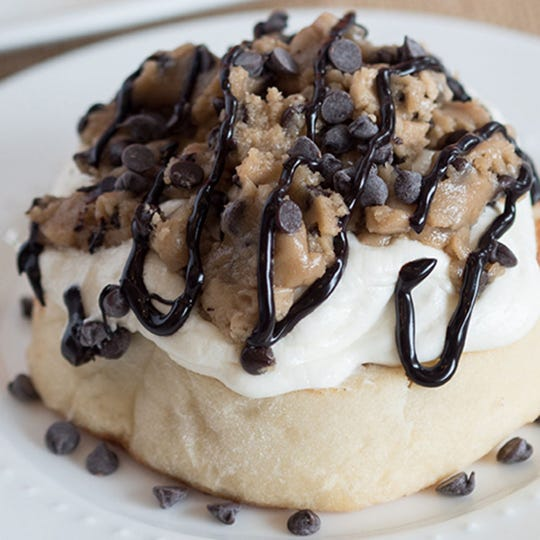 A cookie dough cinnamon roll from Cinnaholic. The cinnamon roll chain will open its first Arizona location in Gilbert July 12.