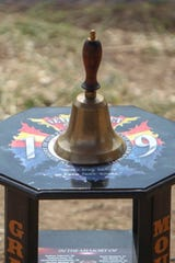 A bell rang after each fallen fighter's name was called out at the future site of The Yarnell Hill Fire Memorial Park on Sunday.