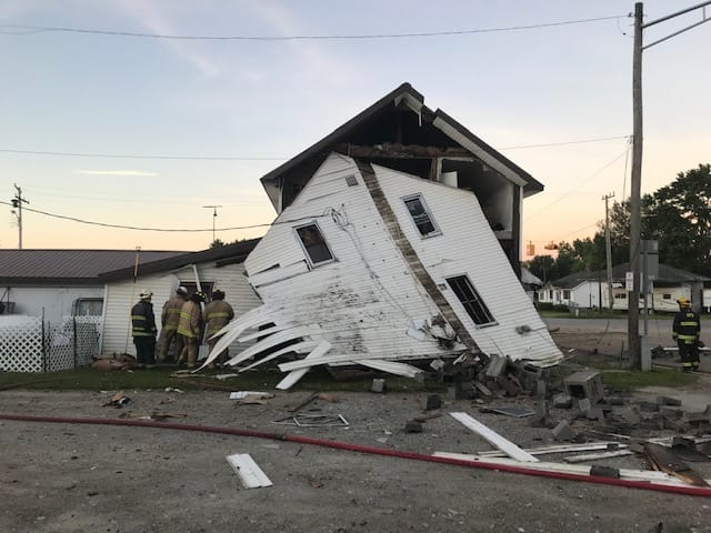 An apparent apartment explosion was reported Sunday morning in Argyle Township.