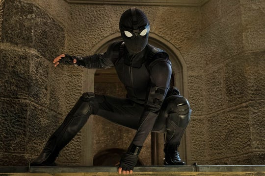 """Tom Holland stars in """"Spider-Man: Far From Home."""" The movie opens Tuesday at Regal West Manchester, Frank Theatres Queensgate Stadium 13 and R/C Hanover Movies."""