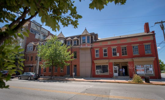 The buildings at 240 to 256 N. George Street in York will be transformed under a pending $3.6 million grant with letters of intent from tenants Mexitaly and York Financial Wellness Group.