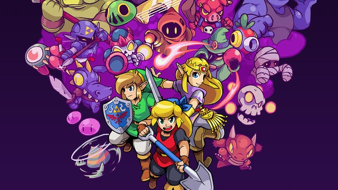 """Cadence of Hyrule: Crypt of the NecroDancer Featuring the Legend of Zelda"" for the Nintendo Switch."