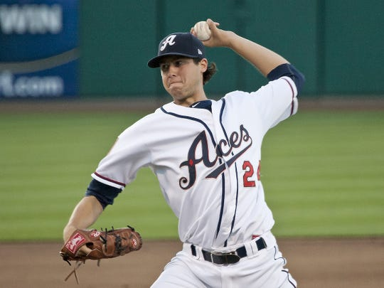 Reno Aces pitcher Tyler Skaggs throws against Colorado Springs during a 2012 game.