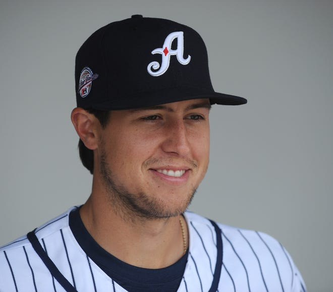 Tyler Skaggs with the Reno Aces in 2013.