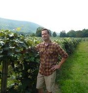 Tim Moore, owner of Inspire Moore Winery in Naples, in his vineyard in 2011.