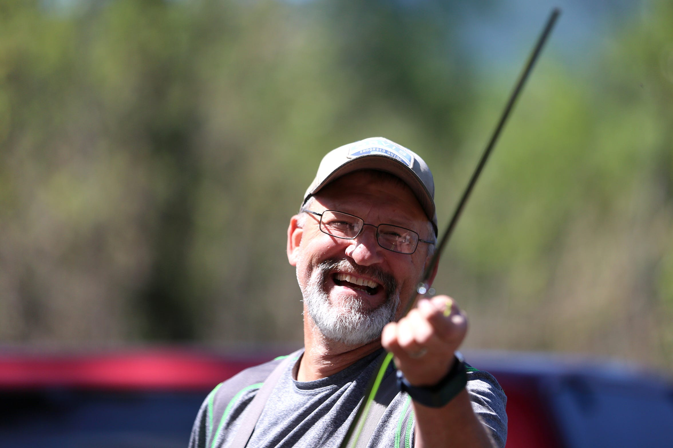 Dave Carpenter, a former fishing guide on the North Santiam River and long-time advocate for native fish, gets ready to fish at North Santiam State Recreation Area in Lyons on June 26, 2019.
