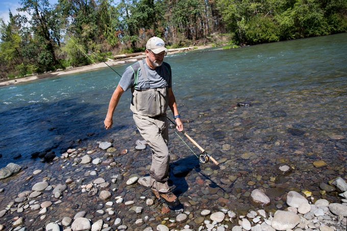 Dave Carpenter, a former fishing guide on the North Santiam River and long time advocate for native fish, fishes at North Santiam State Recreation Area in Lyons on June 26, 2019.