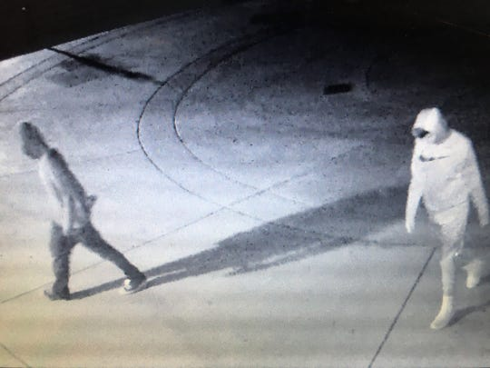 King City Police are looking for two people caught on surveillance footage near the high school June 27, 2019. Each one is considered a person of interest by police in vandalism that occurred at the high school that night.