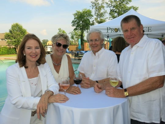 Sherry Kerr, Holli Hennessey, Tom Giles, Pat Hennessy at feast!