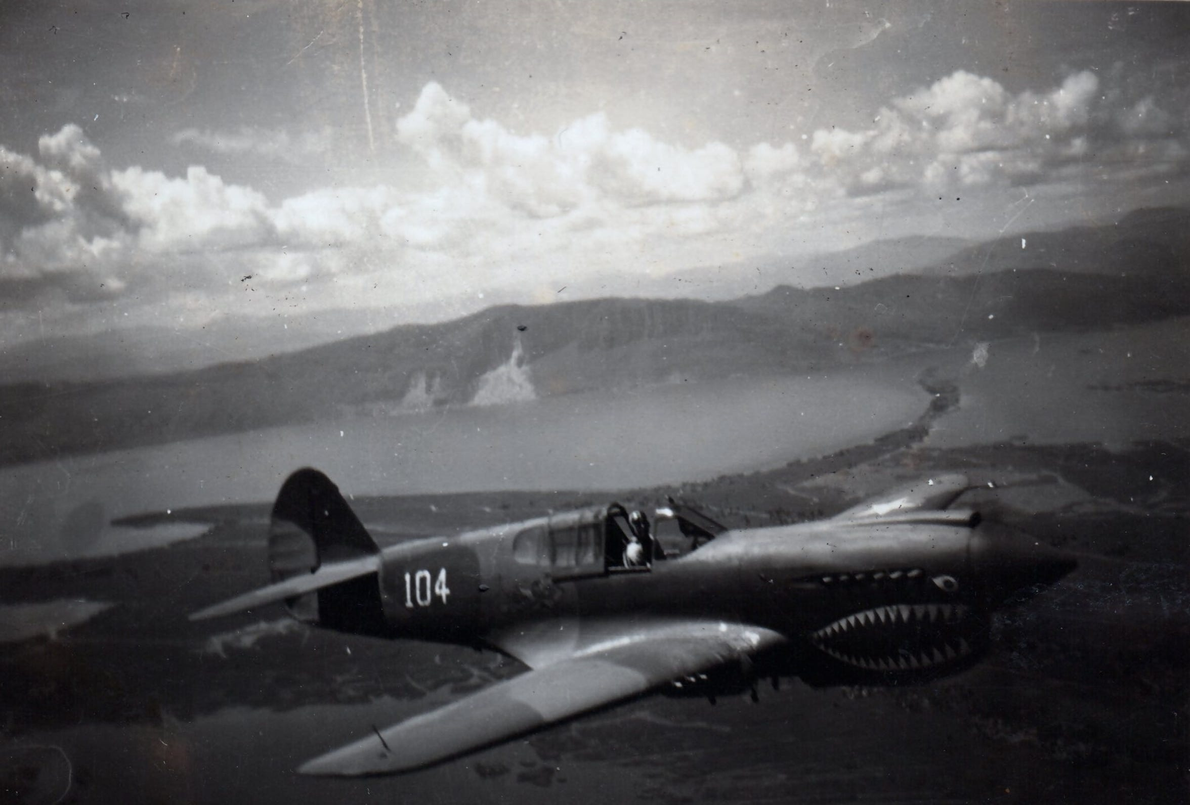 A P-40 fighter with the AVG Flying Tigers