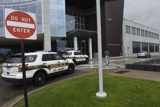 St. Cloud police responded to an altercation outside the St. Cloud Public Library about 11 a.m. Monday, July 1, 2019.