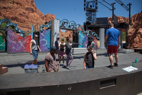 Tuacahn performers and crew prepare for their upcoming shows Thursday, June 27, 2019.